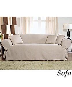 Linen Weave Solid Linen Slipcovers (Sofa) | Overstock.com Shopping - The  Best Deals on Sofa Slipcovers