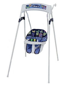 Graco Alphabet Checkers Recliner Wind Up Swing Free