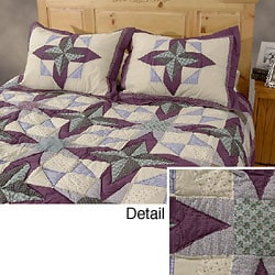 Rustic Star Patchwork Quilt Set - Thumbnail 0