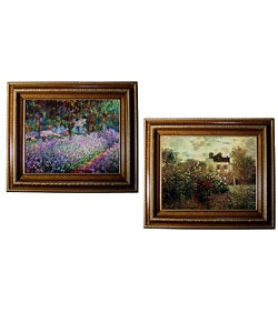 Claude Monet 'Artist's Garden' Framed 2-piece Canvas Art Set