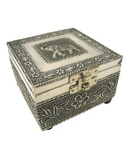 Shop Embossed Elephant Jewelry Box India Free Shipping