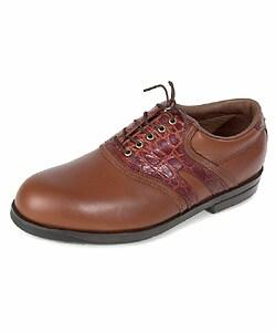 Florsheim Men's Magneforce Brown Saddle Golf Shoes - Thumbnail 0