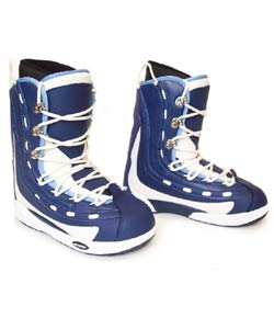 Oxygen Men's System Snowboard Boots - Blue/White - Thumbnail 0