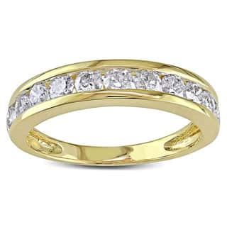 Miadora Signature Collection 14k Gold 1ct TDW Diamond Anniversary Band (H-I, I2-I3)|https://ak1.ostkcdn.com/images/products/P949470A.jpg?impolicy=medium
