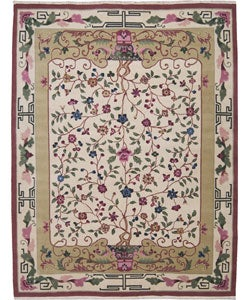 Nourison Hand-knotted Empire Ivory Wool Rug (5 x 7) - Thumbnail 0