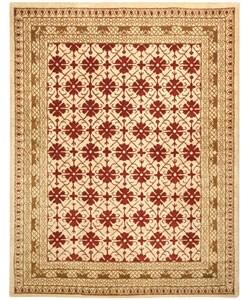 Safavieh Handmade Classic Kashan Beige Wool Rug (7' 6 x 9' 6 )