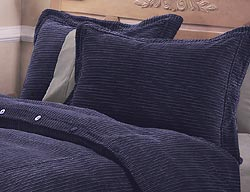 Cable Duvet Cover Set (Navy) - Thumbnail 0