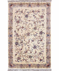 Nourison Hand-tufted Siam Ivory Rug (8 x 10'6) - Thumbnail 0