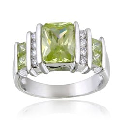 Icz Stonez Sterling Silver Color and White CZ Ring