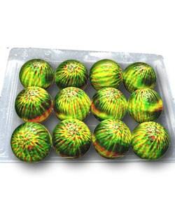 Shop Ladyz Yellow Tie Dye Golf Balls 2 Dozen Free Shipping On