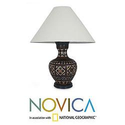 Handcrafted Ceramic 'Mediterranean' Table Lamp (Mexico)