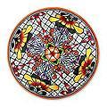 Handmade Ceramic 'Happy Tradition' Talavera Serving Plate (Mexico)