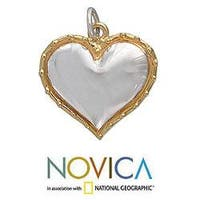 Gold Overlay 'Radiant Heart' Pendant (Mexico)