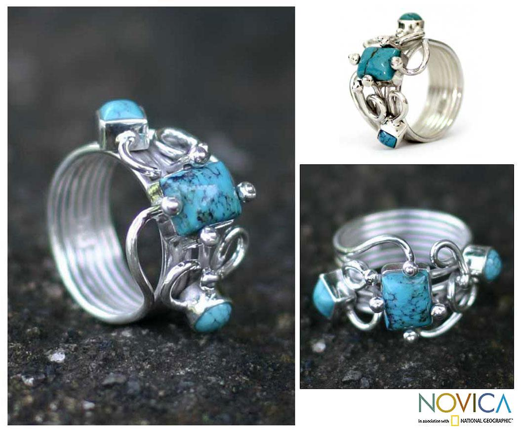 Sterling Silver 'Tropical Sophistication' Ring  (Indonesia)