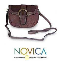 Leather 'Kanpur Breeze' Shoulder Bag (India)