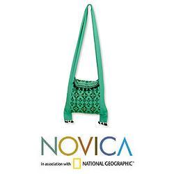 Cotton 'Bagadu Beauty' Medium Sling Handbag (India)