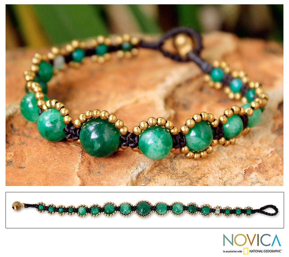 Brass 'Thai Passion' Quartz Bracelet (Thailand)