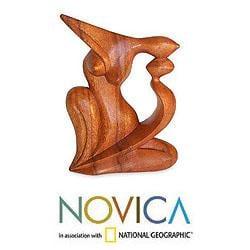 Suar Wood 'Elegant Kiss' Statuette (Indonesia)