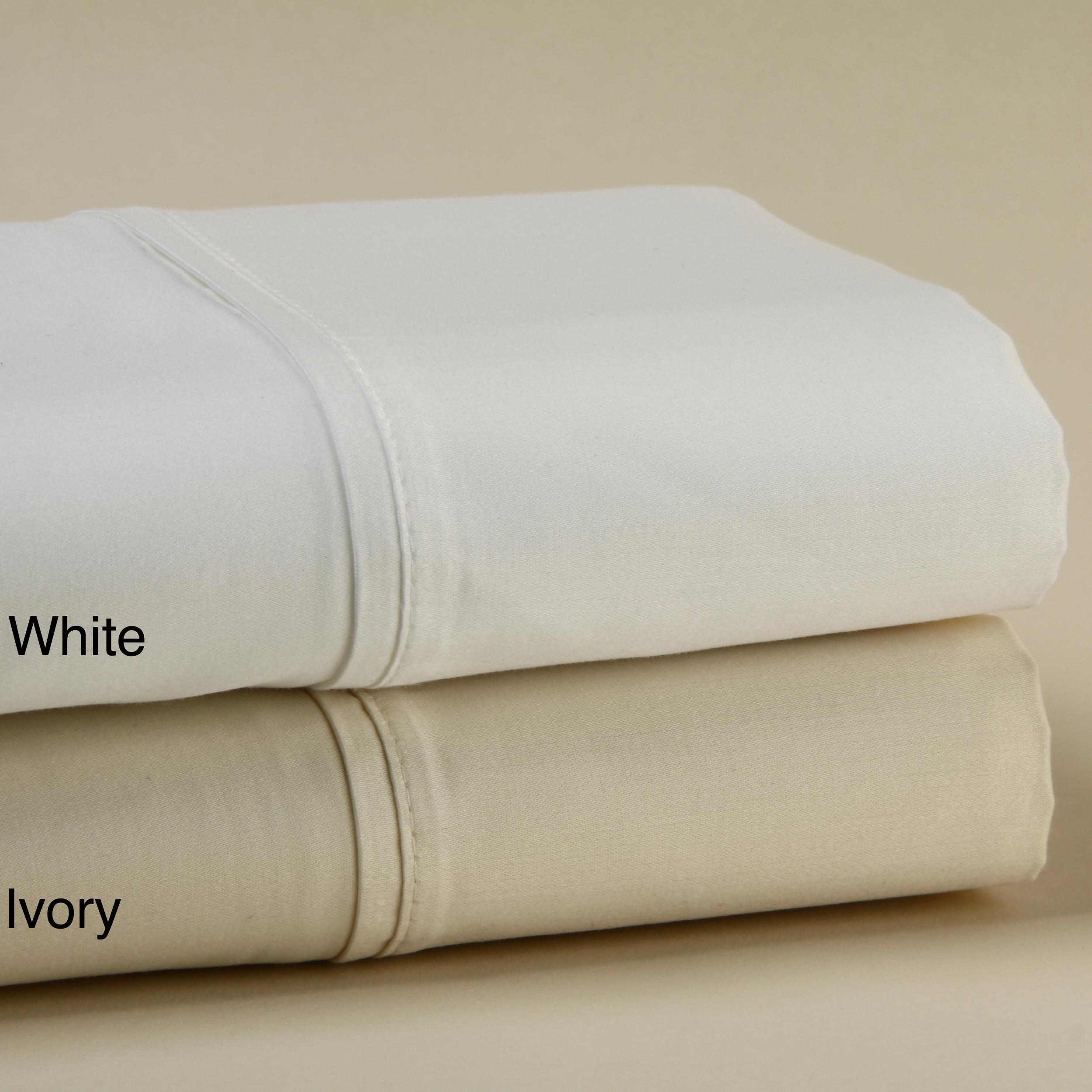 100/% Cotton Deep Pocket Comfort Desire Bedding Items US Ivory Solid