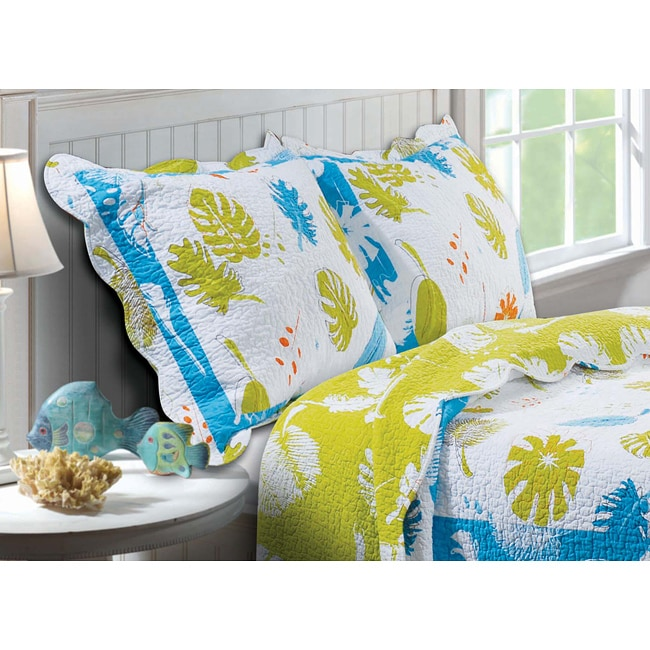Greenland Home Fashions Coastal Breeze Quilted Pillow Sham Set