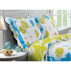 Greenland Home Fashions Coastal Breeze Quilted Pillow Sham Set - Thumbnail 0