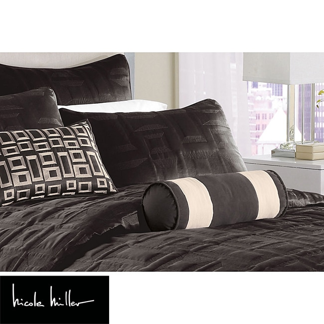 Nicole Miller City Square Black Standard Pillow Sham - Thumbnail 0