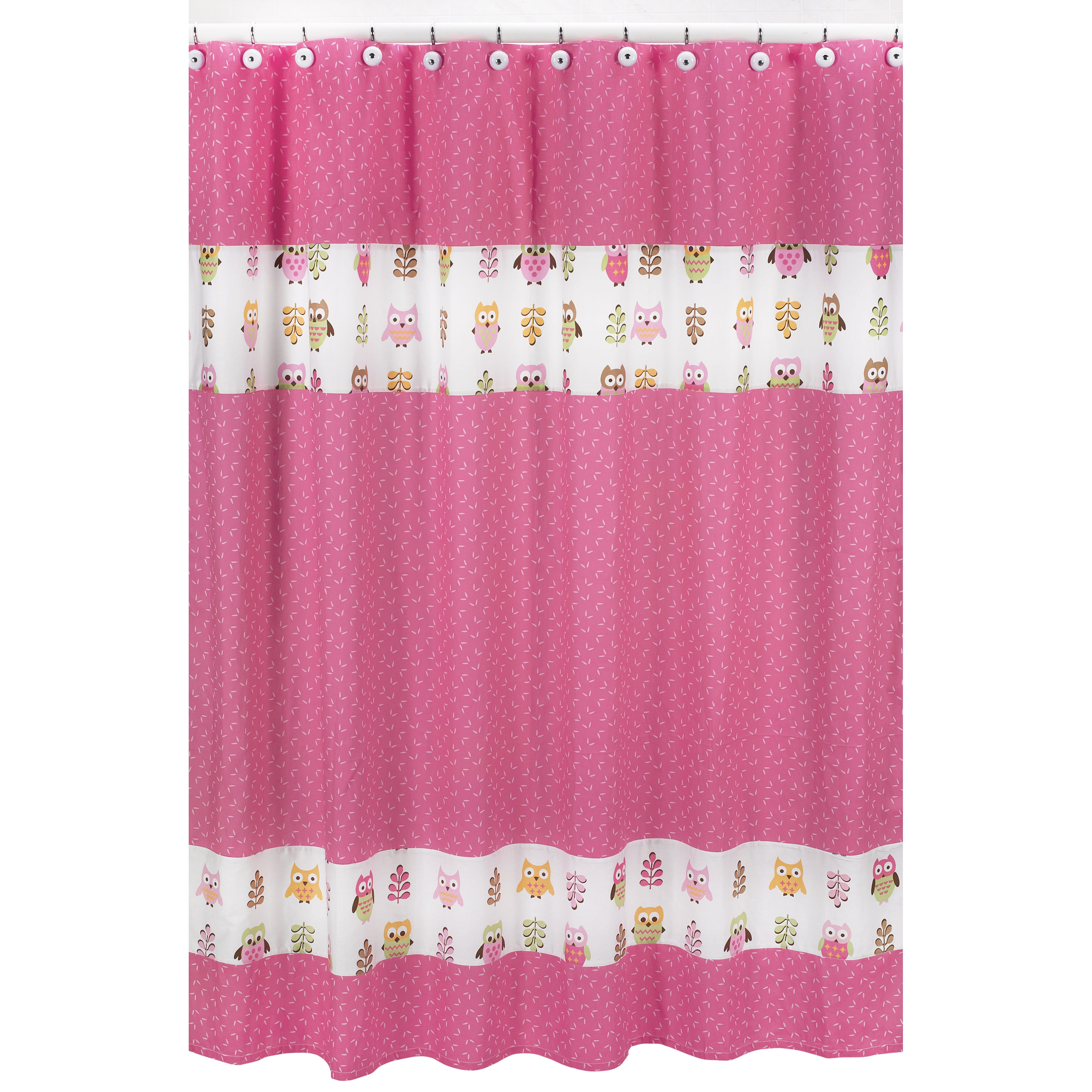 Sweet Jojo Designs Pink French Toile Kids Bathroom Fabric Bath Shower Curtain