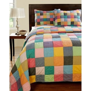 Landon Color Patchwork Twin-size Quilt Set
