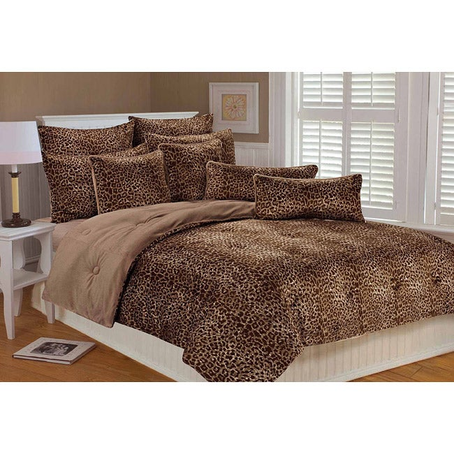 Raquel Cheetah 3-piece Comforter Set - Thumbnail 0