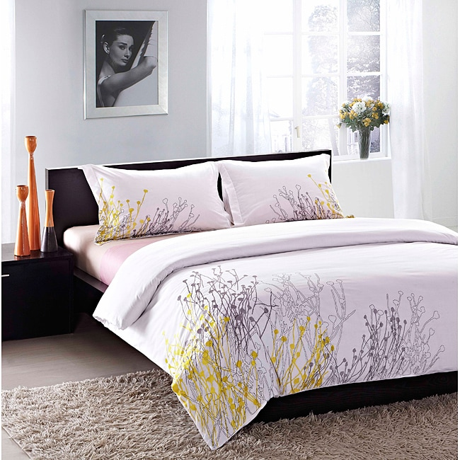 Reed Embroidered 3-piece Duvet Cover Set - Free Shipping ...