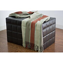Rizzy Home Heavy Tight Striped Acrylic Throw