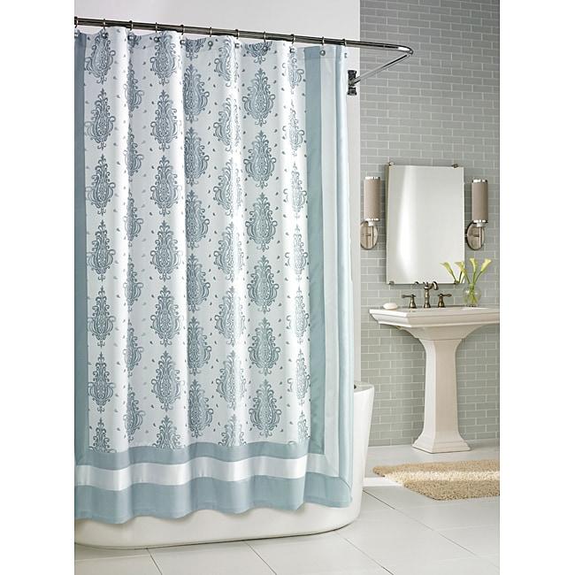 Roman Medallian Seafoam Shower Curtain - 14179597 - Overstock.com ...
