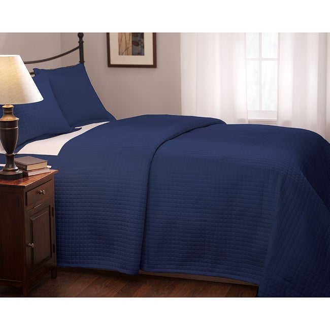 Roxbury Park Quilted King-size Navy Coverlet