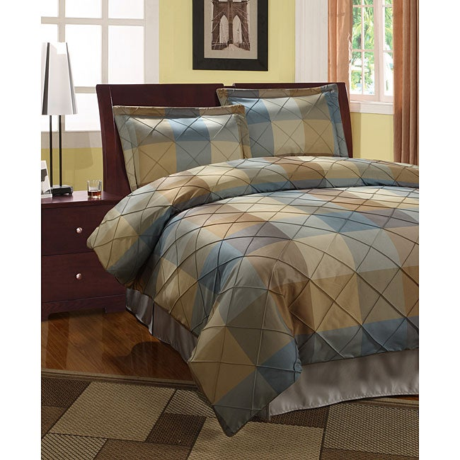 Royal Court 3-piece Blue Duvet Cover