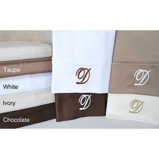 Egyptian Cotton 300 Thread Count Solid Script 'D' Monogram Sheet Set