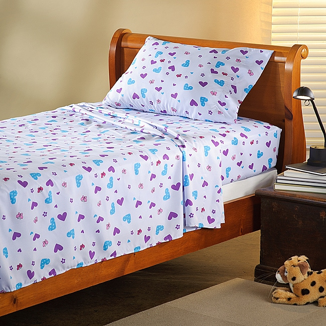 Expressions Microfiber Butterfly Children's Full Sheet Set