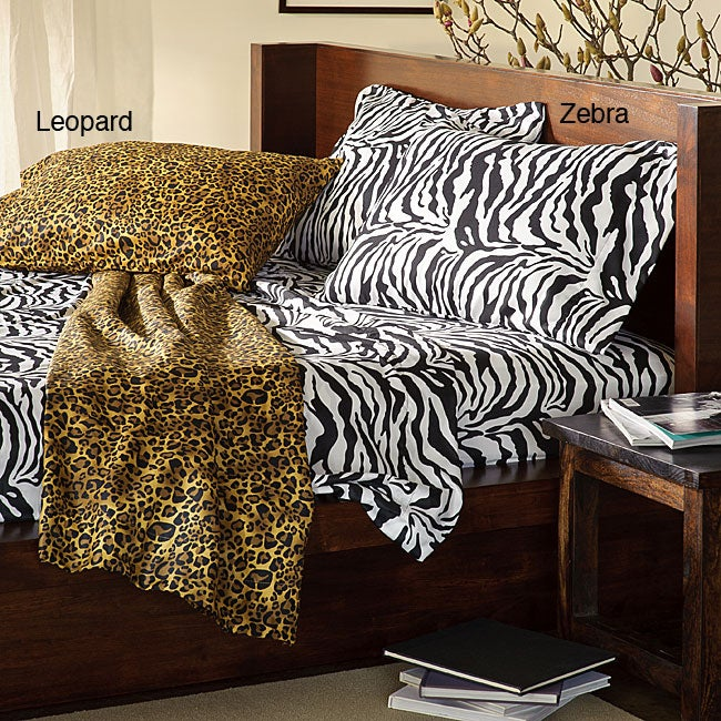 Safari Collection Microfiber Sheet Set