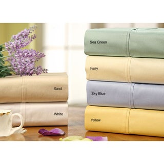 Sateen Solid Combed Cotton 300 Thread Count Sheet Set