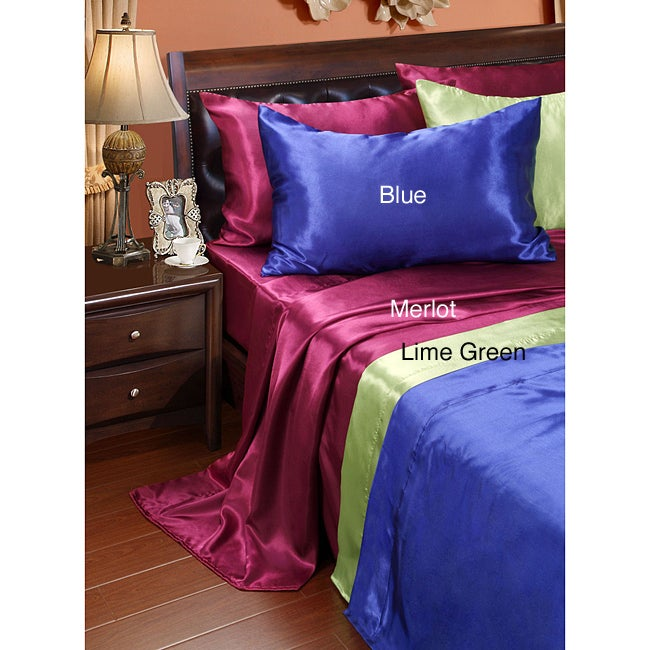 Solid Satin Twin-size Sheet Set