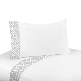 Sweet Jojo Designs Grey and White Diamond Twin Sheet Set
