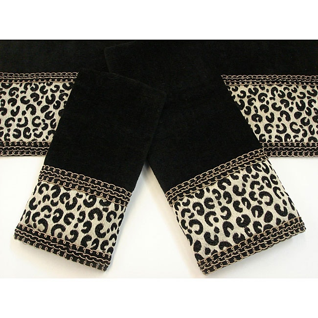 Sherry Kline Cheetah Black Decorative 3-piece Towel Set