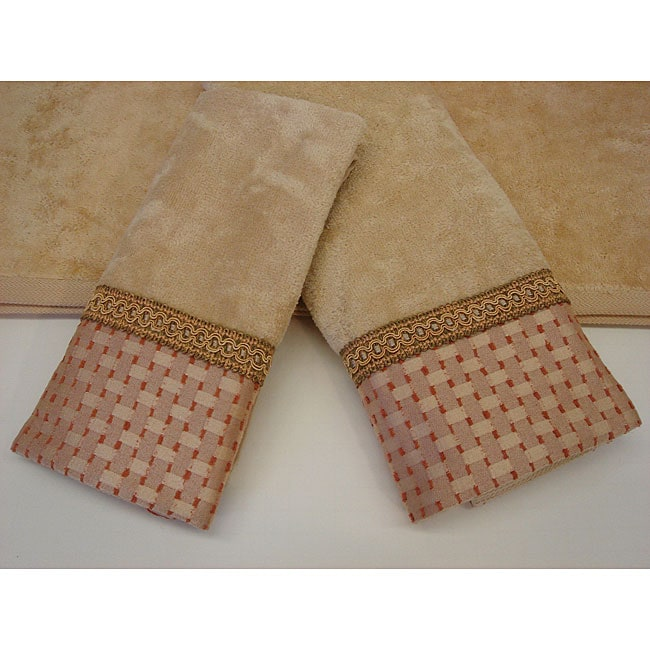 Sherry Kline Chekered Chenille Dots Decorative 3-piece Towel Set
