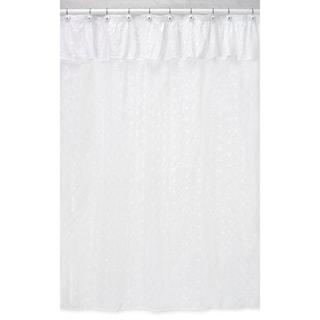 Sweet Jojo Designs White Eyelet Shower Curtain