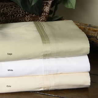 Solid Sateen 600 Thread Count Egyptian Cotton Sheet Set