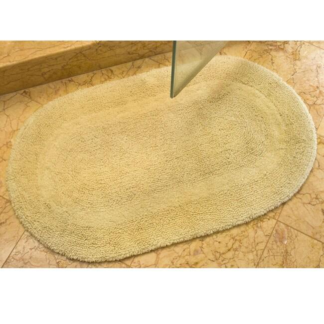 Safavieh Spa Collection Beige Reversible 2,400-Gram Cotton Bath Mats (Set of Two)