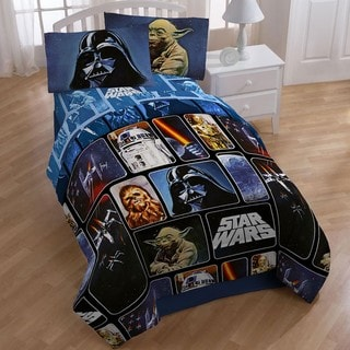 Star Wars Collage 5-piece Full-size Bed in a Bag with Sheet Set