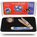 U.S. Mint State Quarter Tennessee Knife/Coin Set