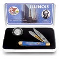 U.S. Mint Illinois State Quarter and Knife Set