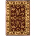 Safavieh Handmade Traditions Tabriz Red/ Gold Wool and Silk Rug - 4' x 6'