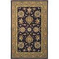 Safavieh Handmade Tabriz Red/ Gold Wool and Silk Rug - 9'6 x 13'6
